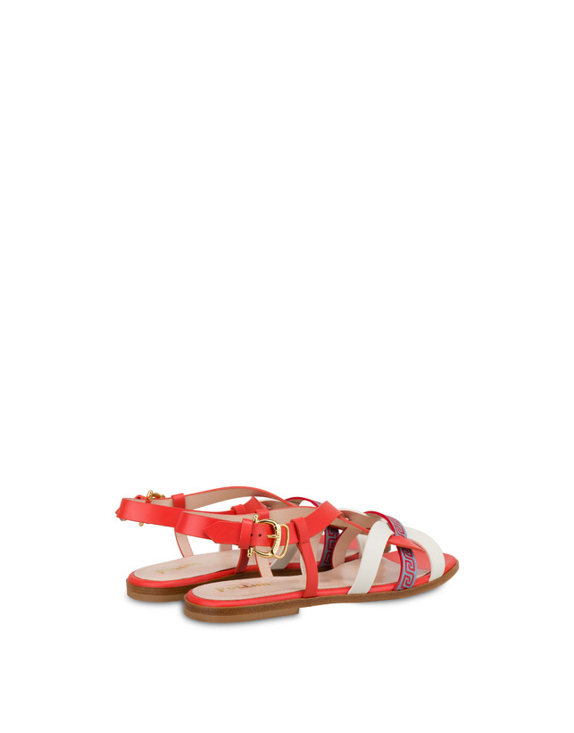 Greek Arco Wave calfskin flat sandals Photo 3