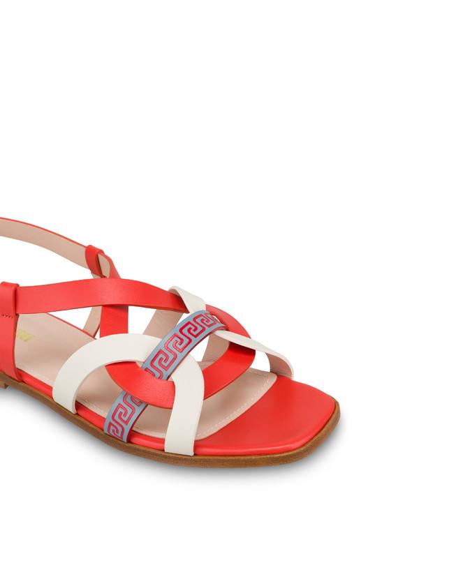 Greek Arco Wave calfskin flat sandals Photo 4
