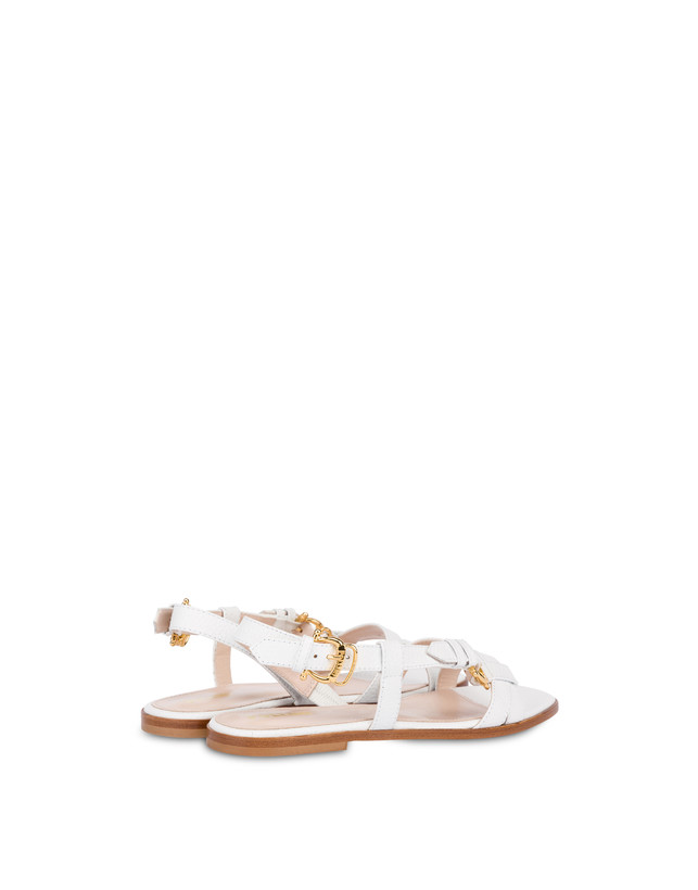 Buckle Notes flat sandals in patent leather Photo 3