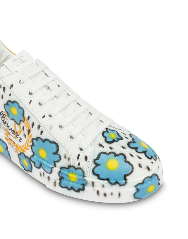 'Please don't eat the flowers' leather sneakers with floral print Photo 6