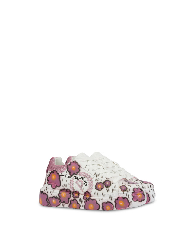 'Please don't eat the flowers' floral print sneakers Photo 2