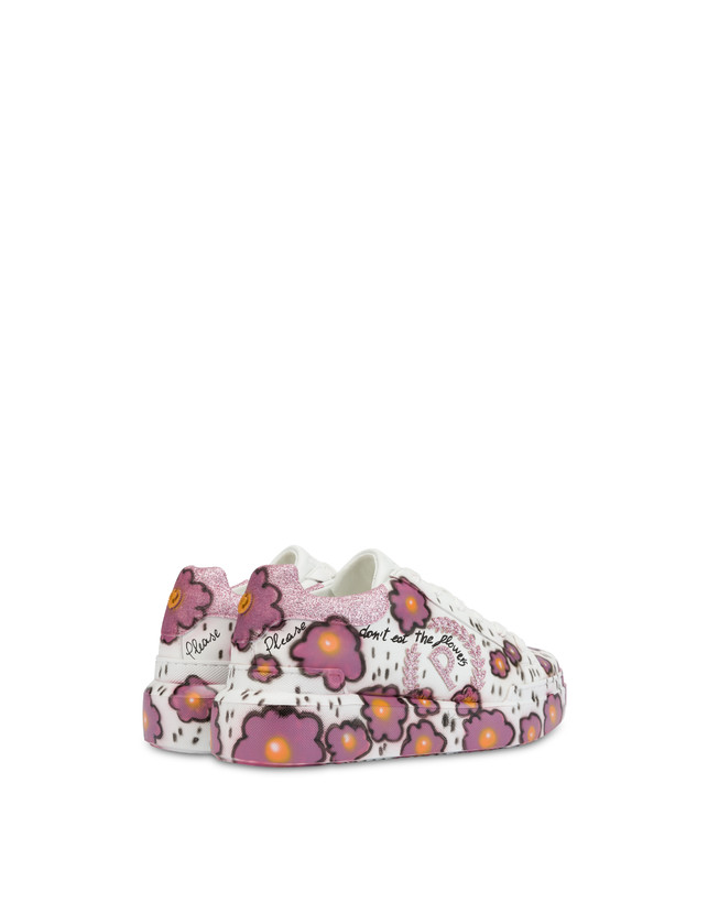 'Please don't eat the flowers' floral print sneakers Photo 3