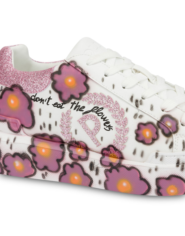 'Please don't eat the flowers' floral print sneakers Photo 4