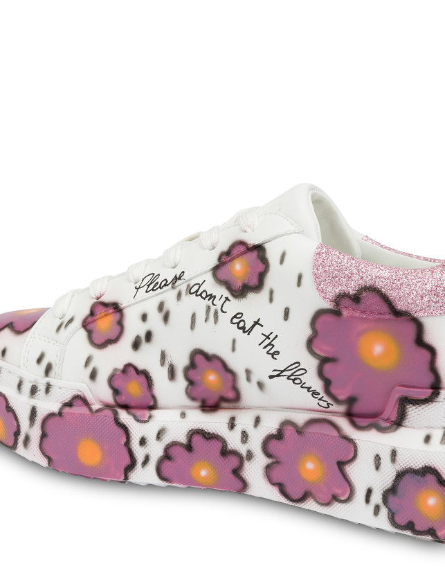 'Please don't eat the flowers' floral print sneakers Photo 5