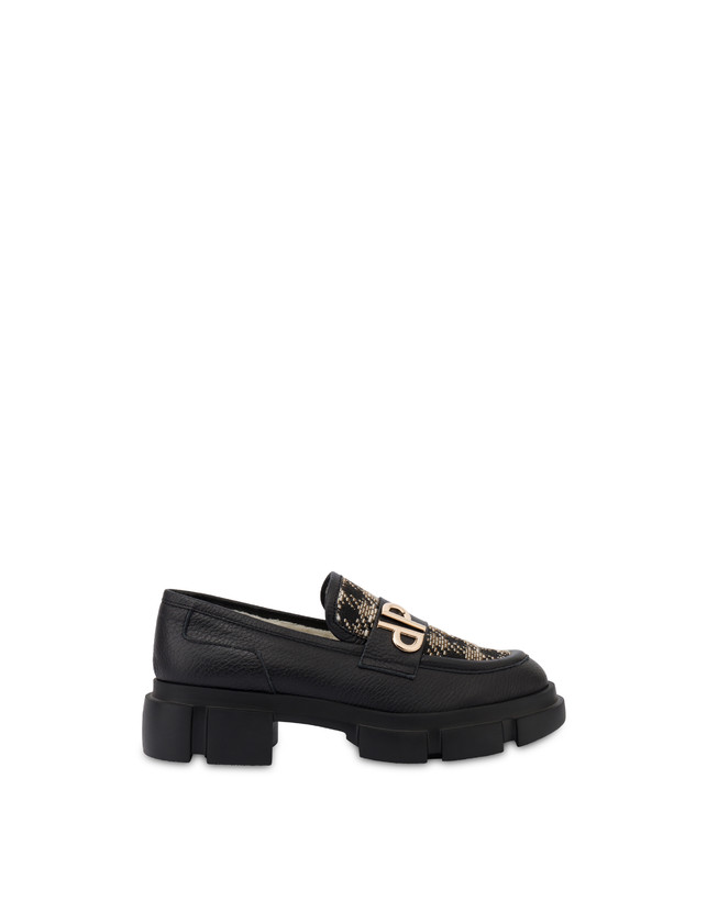 Twin P Manish calfskin and houndstooth loafers Photo 1
