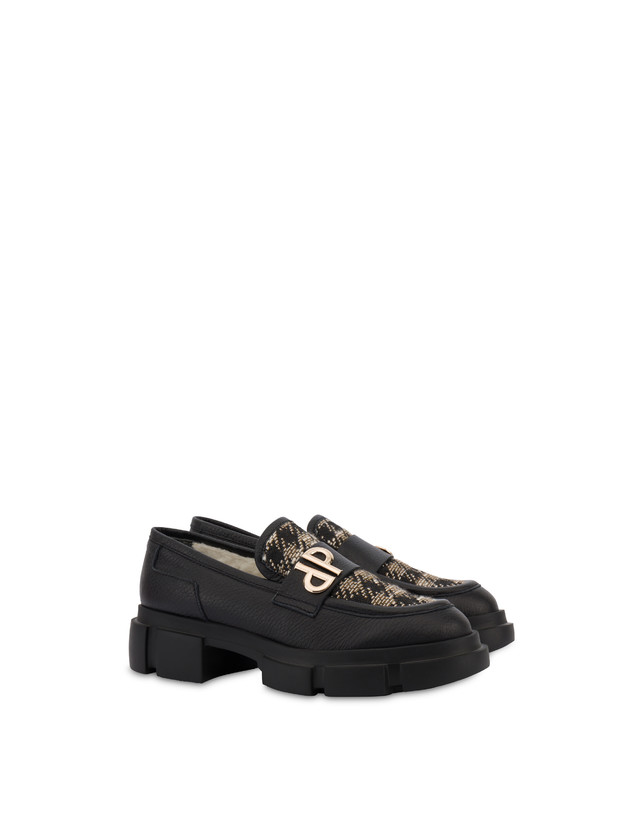 Twin P Manish calfskin and houndstooth loafers Photo 2