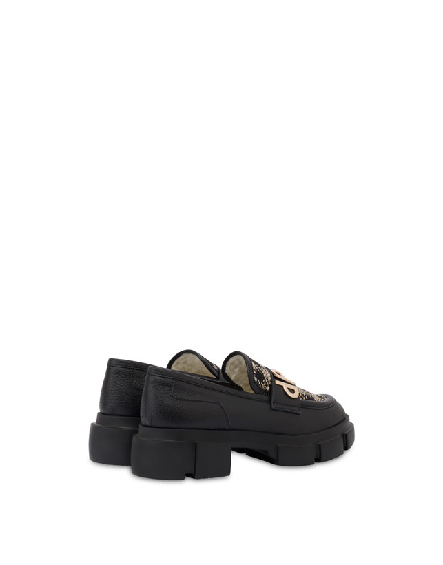 Twin P Manish calfskin and houndstooth loafers Photo 3