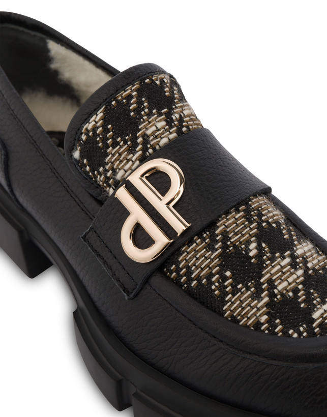 Twin P Manish calfskin and houndstooth loafers Photo 4