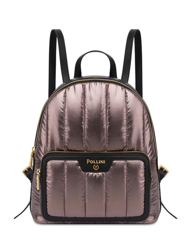 Shiny Tank metallic nylon backpack Photo 1