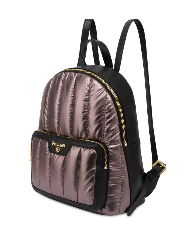 Shiny Tank metallic nylon backpack Photo 2