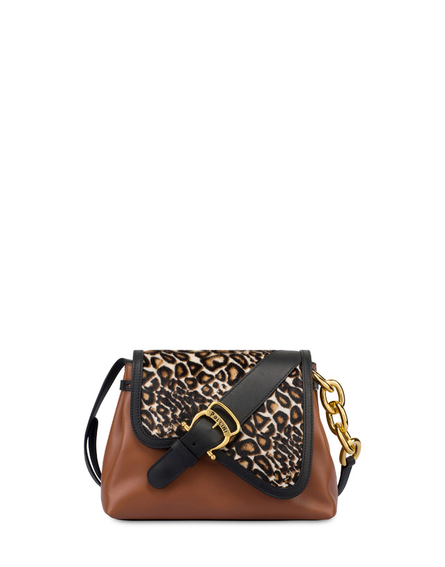 Cabiria Buckle calf leather and pony skin shoulder bag Photo 1