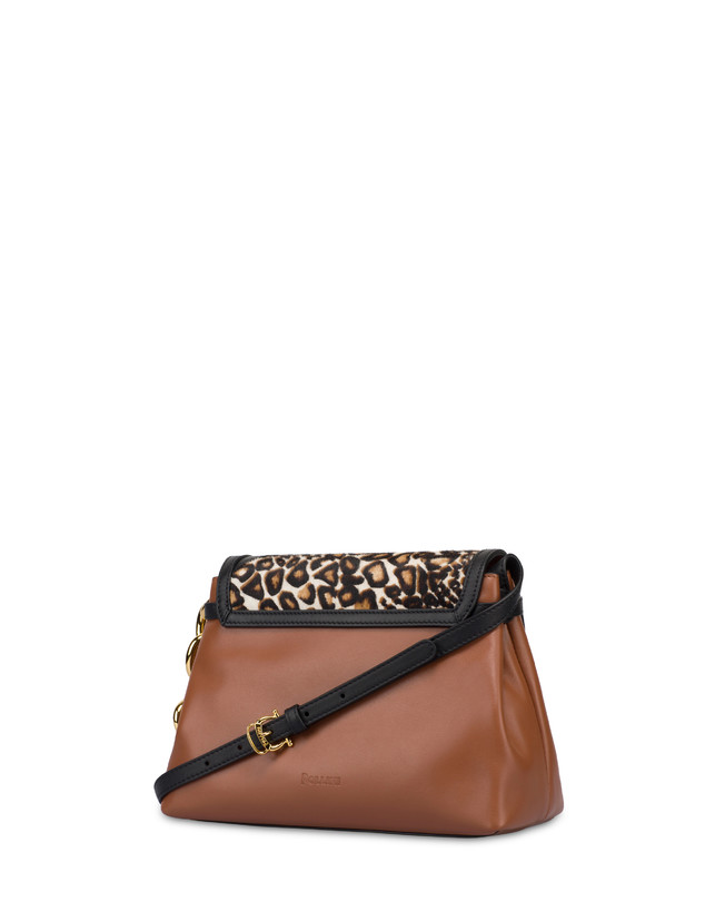 Cabiria Buckle calf leather and pony skin shoulder bag Photo 3