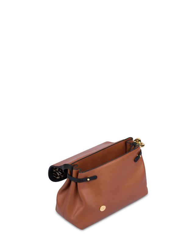 Cabiria Buckle calf leather and pony skin shoulder bag Photo 4