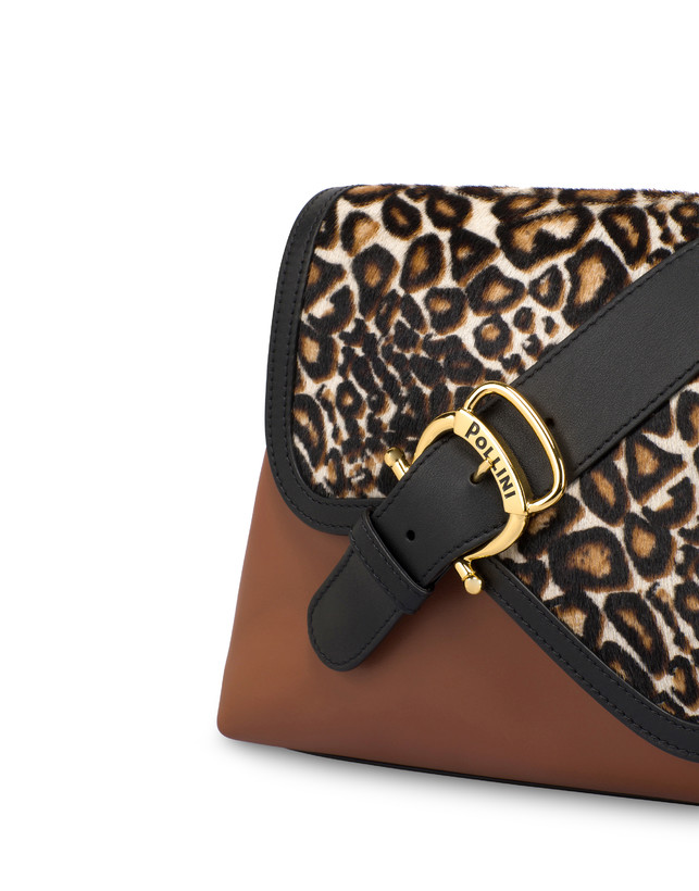 Cabiria Buckle calf leather and pony skin shoulder bag Photo 5