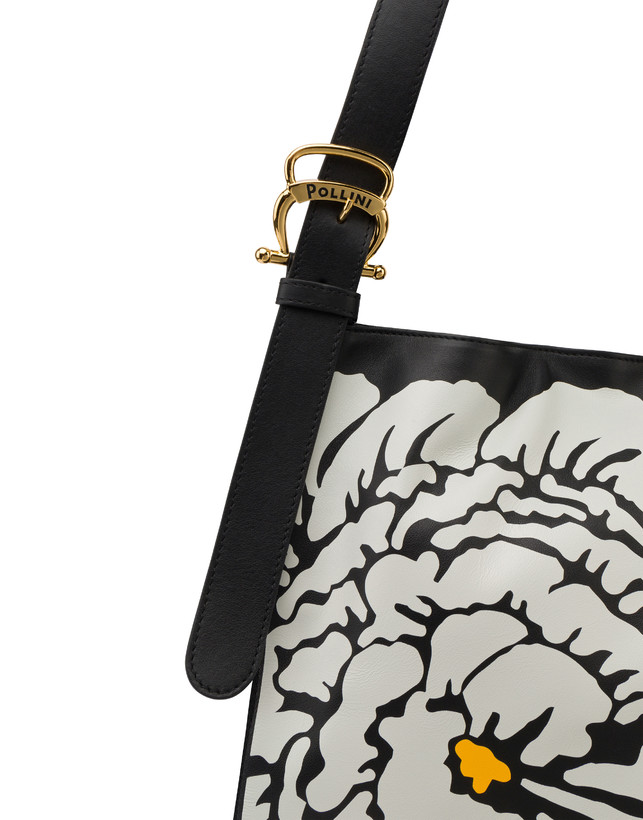 Borsa a spalla in vitello Anemone Photo 5