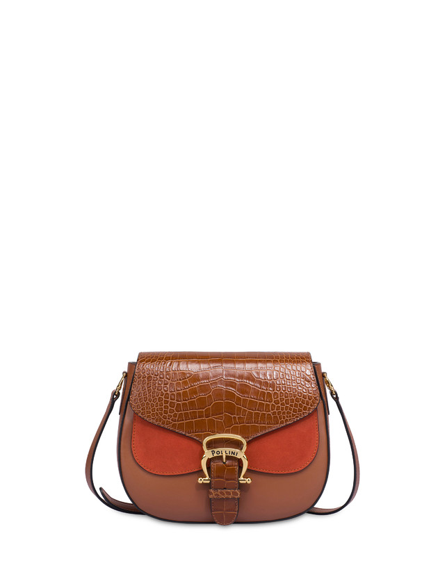 Petal bag in calf leather and leather Photo 1