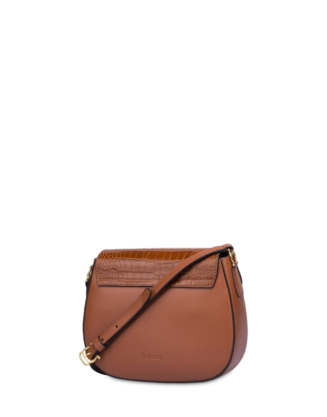 Petal bag in calf leather and leather Photo 3