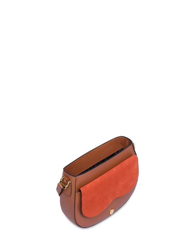 Petal bag in calf leather and leather Photo 4