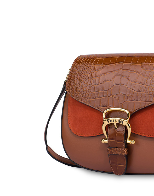 Petal bag in calf leather and leather Photo 5