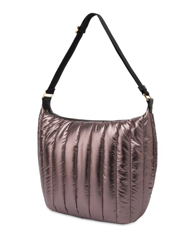 Hobo bag in nylon metallizzato Shiny Tank Photo 3