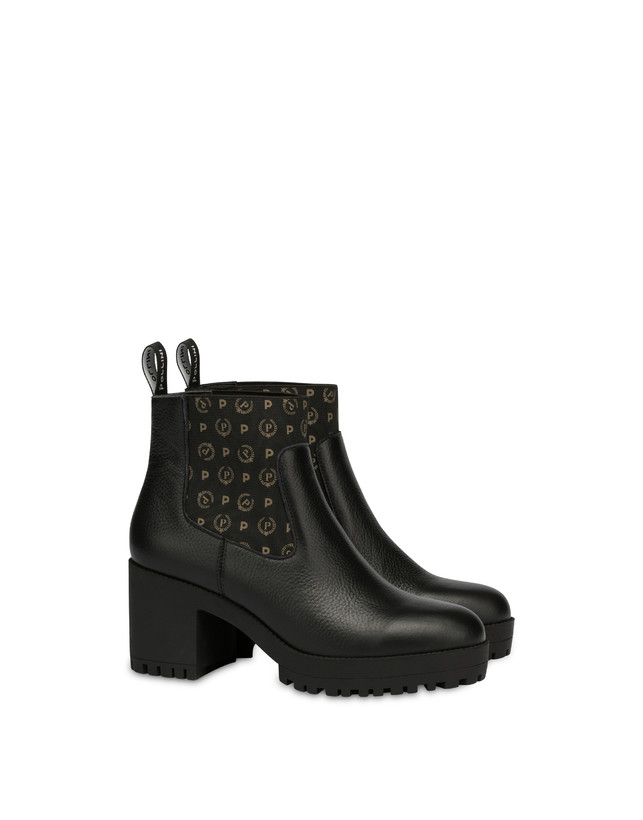 Logo Heritage calf leather ankle boots Photo 2