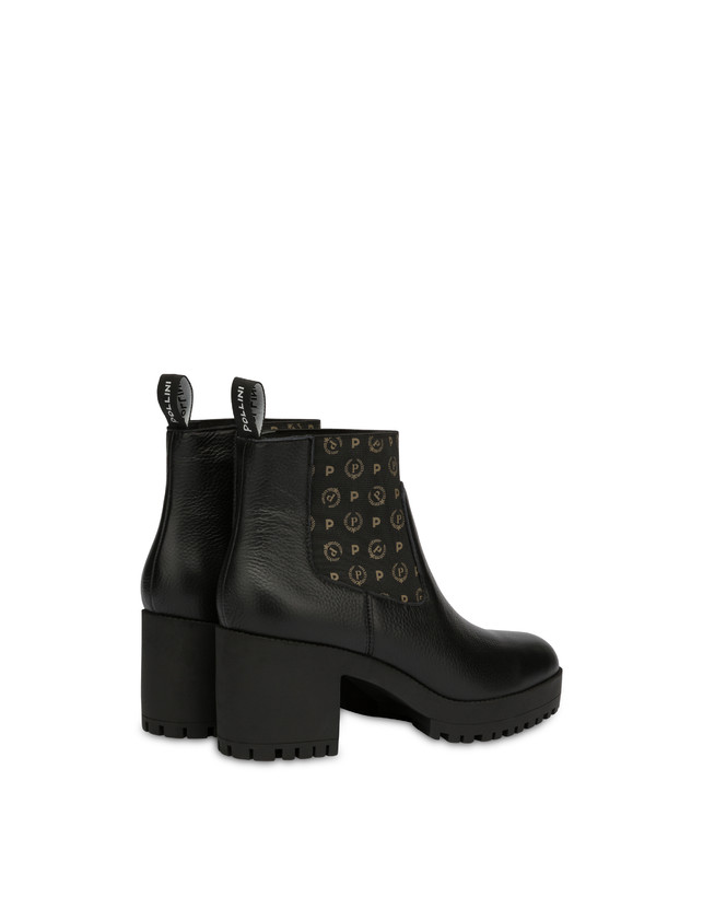 Logo Heritage calf leather ankle boots Photo 3