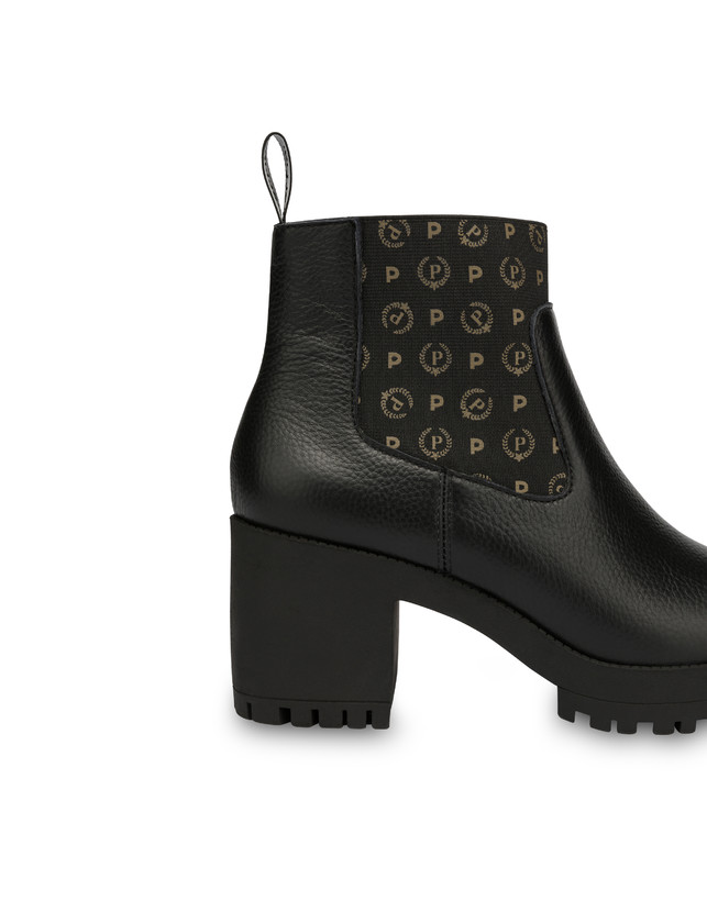 Logo Heritage calf leather ankle boots Photo 4