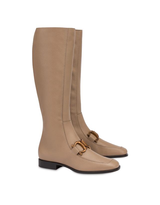 Natalia moose-print calf leather boots Photo 2