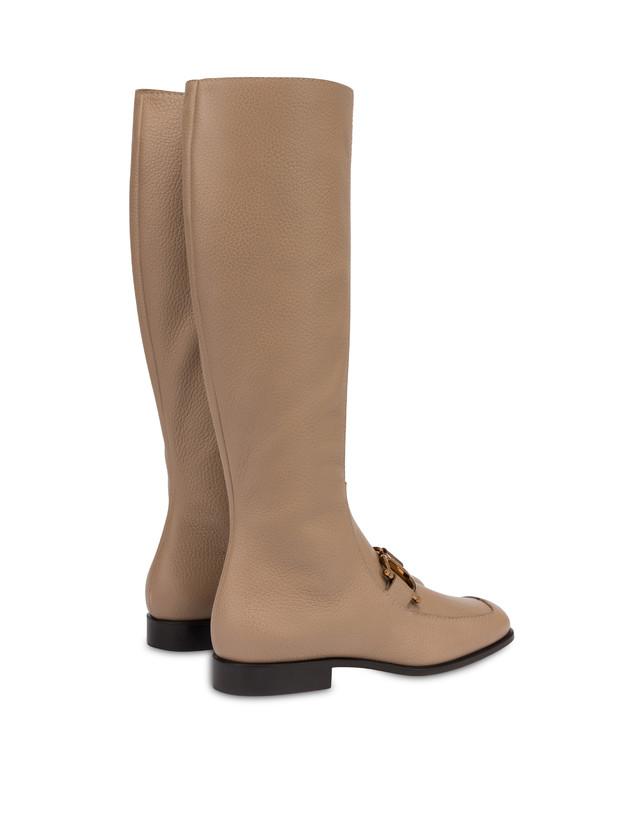 Natalia moose-print calf leather boots Photo 3
