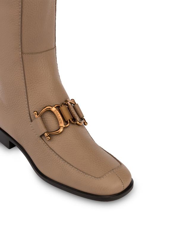 Natalia moose-print calf leather boots Photo 4