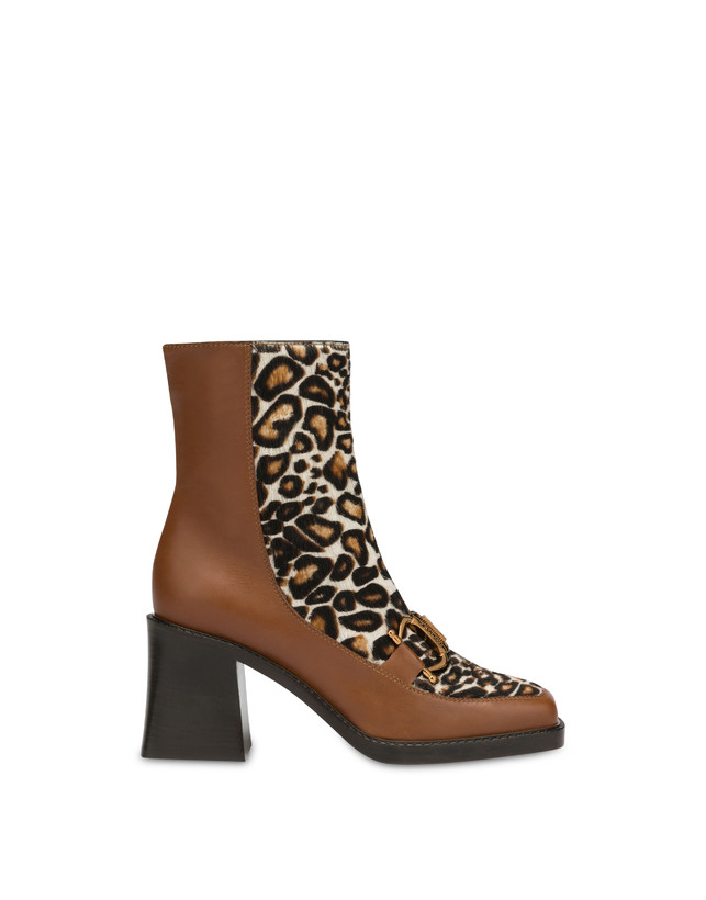 Natalia ankle boots in calf leather and spotted pony skin Photo 1