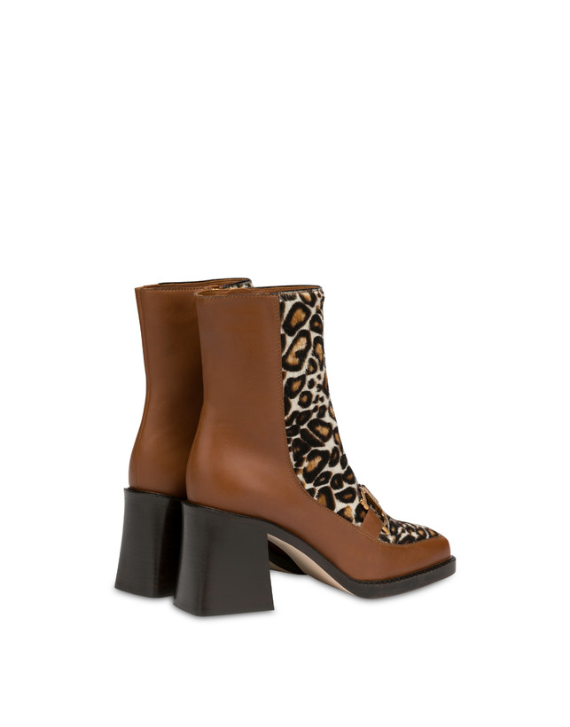 Natalia ankle boots in calf leather and spotted pony skin Photo 3