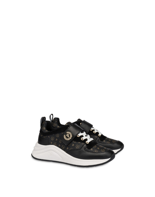 Sneakers in calf leather and PVC Logo Heritage Photo 2