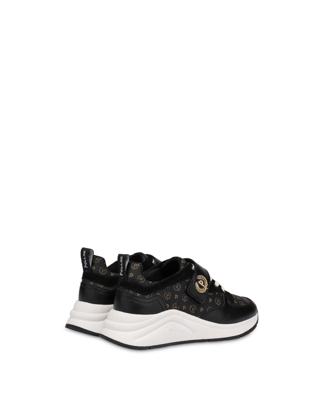 Sneakers in calf leather and PVC Logo Heritage Photo 3
