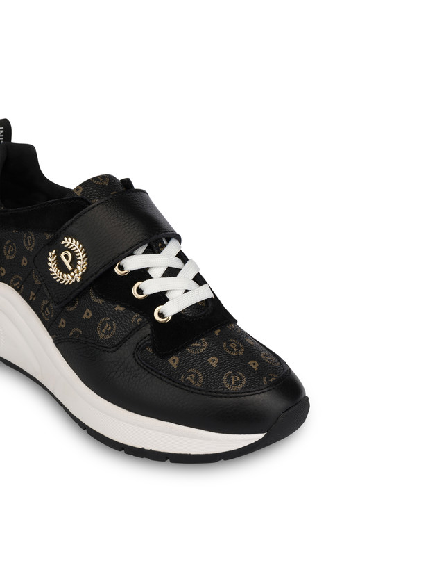 Sneakers in calf leather and PVC Logo Heritage Photo 4