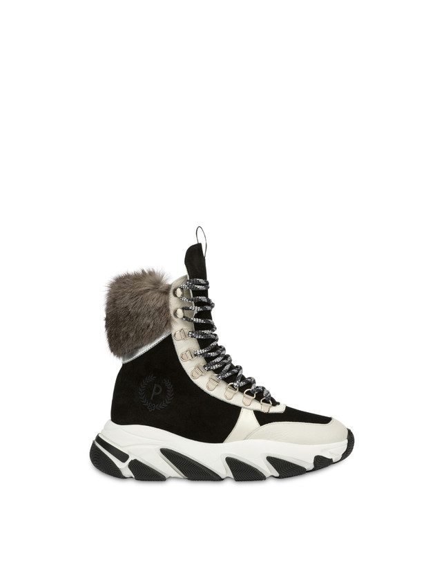 High sneakers with chunky hiking sole Photo 1