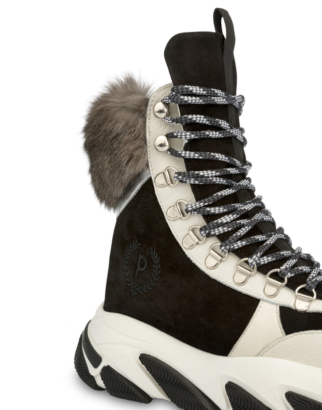 High sneakers with chunky hiking sole Photo 4