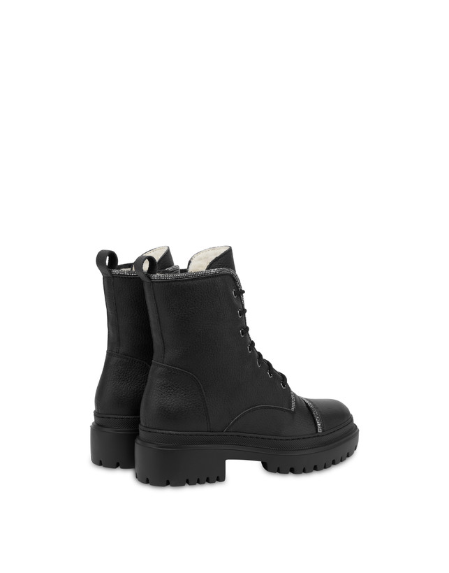 Karluv Most combat boot in calf leather Photo 3