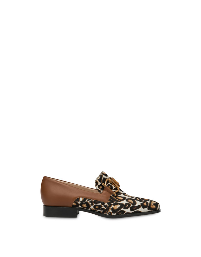 Natalia calfskin and spotted pony moccasins Photo 1