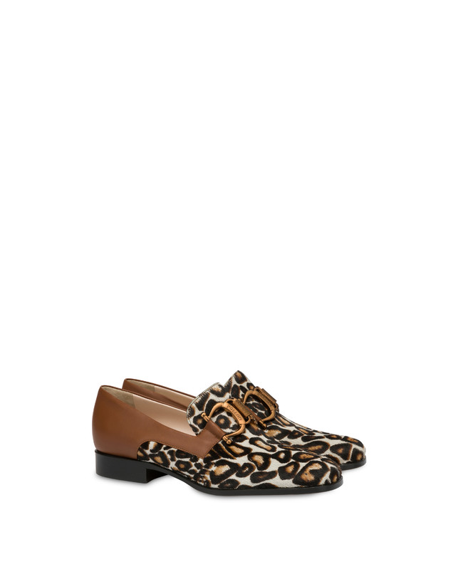 Natalia calfskin and spotted pony moccasins Photo 2
