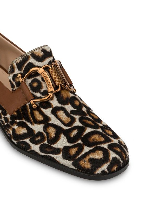 Natalia calfskin and spotted pony moccasins Photo 4