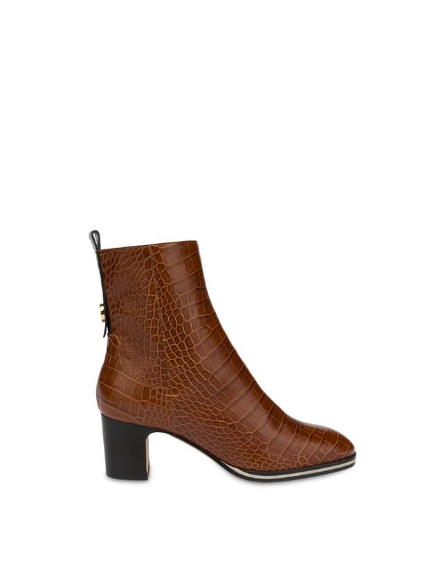 Marne crocodile print calf leather ankle boots Photo 1