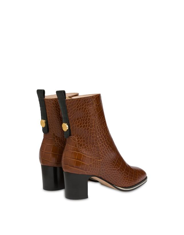 Marne crocodile print calf leather ankle boots Photo 3