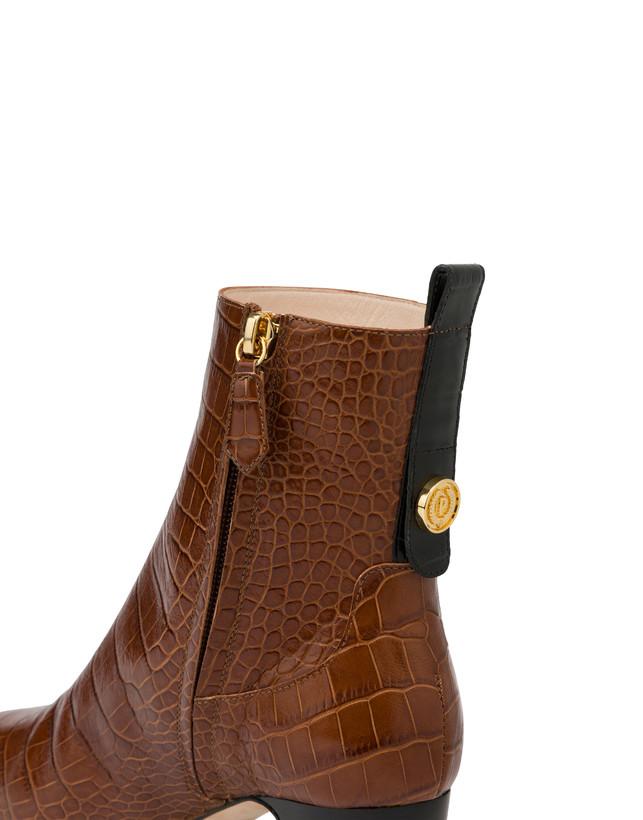 Marne crocodile print calf leather ankle boots Photo 4