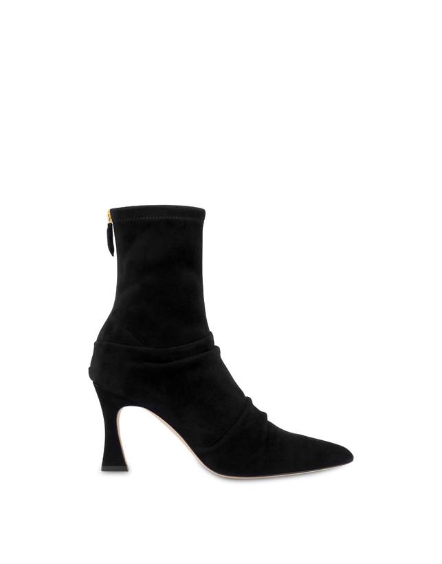 Plissé stretch suede ankle boots Photo 1