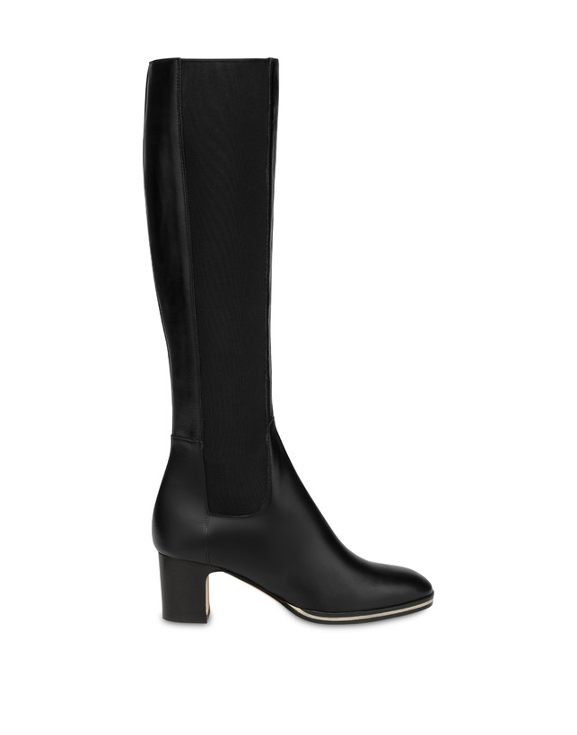 To-the-knee boots in Marne calf leather Photo 1