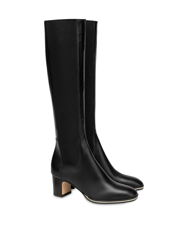 To-the-knee boots in Marne calf leather Photo 2