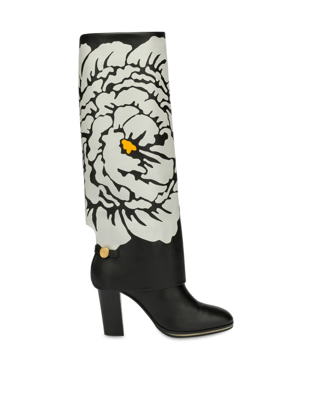 To-the-knee boots in Anemone calf leather Photo 1