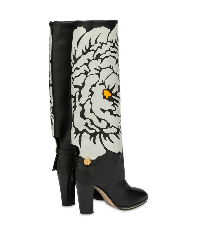 To-the-knee boots in Anemone calf leather Photo 3