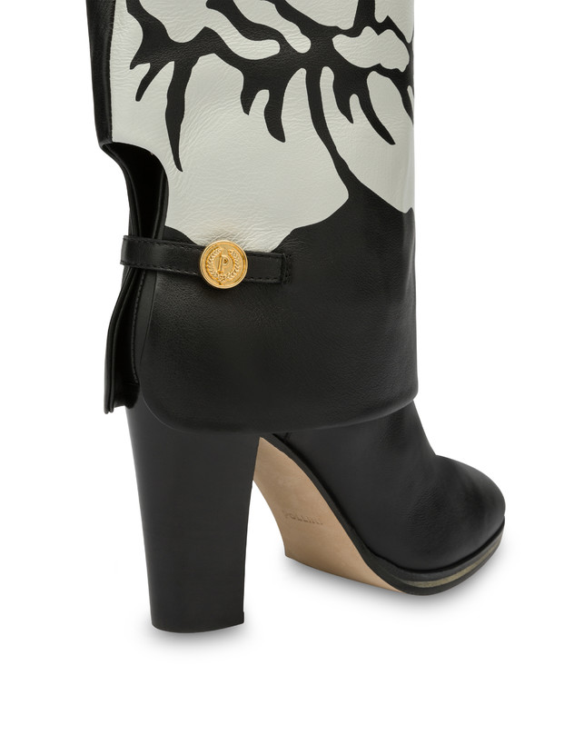 To-the-knee boots in Anemone calf leather Photo 4